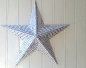RESERVED FOR KARLI Wall star barn star Declarationof Independence text collage metal star 12 inch home decor 3D