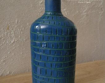 Blue Textured Bottle