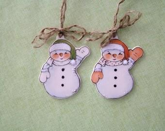 Snowmen Ornaments set of 2