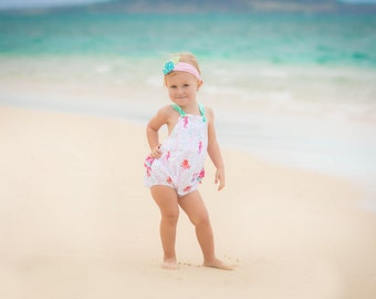 Baby Romper - Girls Beach Dress - Toddler Beach Romper