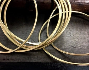 city dweller bangles in brass