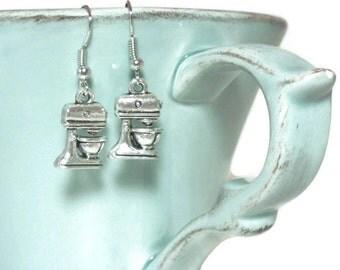 Stand Mixer Earrings - Cook Earrings - Baker Earrings - Kitchen Cooking Earrings - Whimsical Earring - Housewarming Gift, Bridal Shower Gift