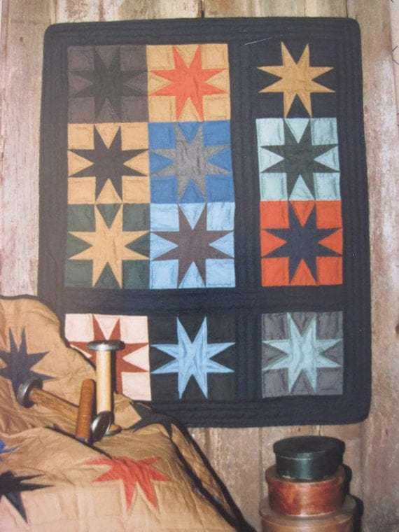Eight Pointed Star Quilt Pattern 2 Small Quilts Wall