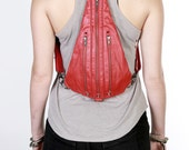 TRI ZIPPER Backpack Fanny Pack and Hip Bag