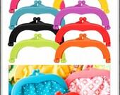 "Lecien Jelly clip MEDIUM 5.5"" - resin acrylic kiss lock for purse, choose a color"