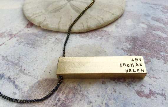 Name Necklace, Fathers Day gift, Personalized men necklace, custom necklace, gift for dad, children name necklace, gift for grandfather