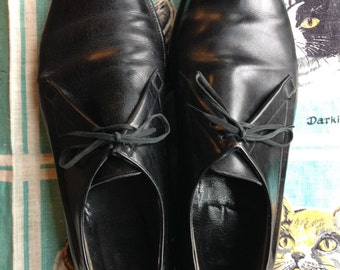 50's 60's oxfords with broguing 10C Made in Italy Ad Men