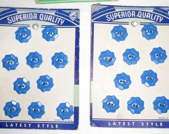 Lot of 2 Vintage Majesty Button Cards