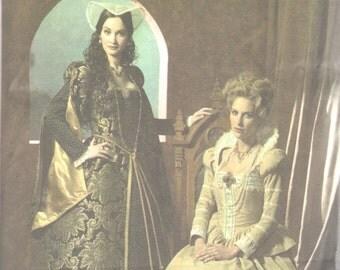 Simplicity 4508 Misses Elizabethan Costume Pattern Tudor Historical Gown Cap Womens Sewing Pattern Size 16 18 20 22 24 Bust UNCUT