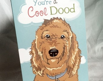 Cool Labradoodle Greeting Card