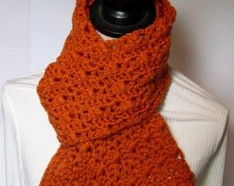 Pumpkin Scarf, Orange Scarf, Winter Scarf, Fall Scarf, Gift for Her, Crochet Scarf, Crochet Scarves, Pumpkin Crochet Scarf, Orange Crochet