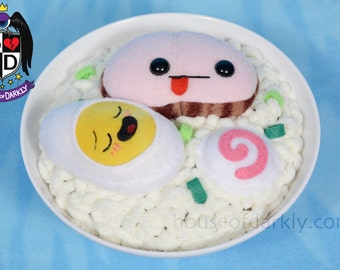 Ramen noodle bowl plush