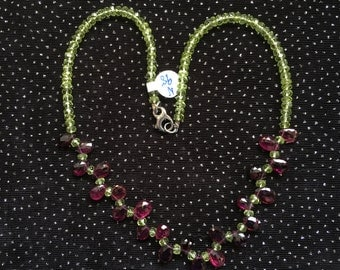 Peridot and Amethyst Necklace  N98