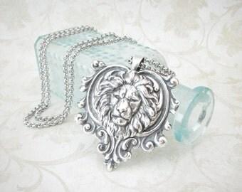 Lionheart - Leo Necklace, August Birthday, Courage Necklace, Strength Necklace, Leo Zodiac Necklace, Leo Jewelry, Gryffindor, Lannister