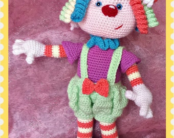 Sherbet the Clown - Crochet pattern only