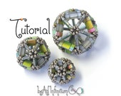 TUTORIAL Tila Icosahedron Bead Beaded with Seed Beads