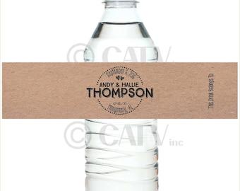 W123 Custom Wedding water bottle labels Self Adhesive waterproof vinyl label Spread the Love Love is Sweet peel and stick