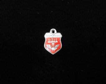 Neumünster, Germany Town Coat of Arms- Travel Shield Enamel Charm, 800 Silver Charm, Vintage Charm, Enamel Pendant, Sterling Silver