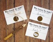 Bridal Shower Scratch Off - Who Knows the Bride Game - Funny Bridal Shower Games - Wedding Shower Games - How Well Do You Know the Bride