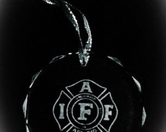 Crystal International Association of Firefighters Ornament
