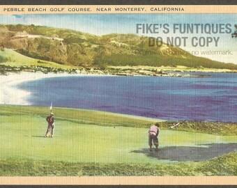 Monterey, California Vintage Postcard - Pebble Beach Golf Course (Unused)