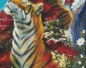 Modern Cross Stitch Kit, Evermore,EXTRA LARGE, Lesley D McKenzie, Tiger, Counted Cross Stitch, Fox Cross Stitch, Made with Dmc Materials
