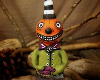 Mr. Jack - Handmade Paperclay Art Doll