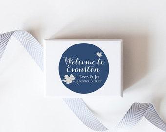 Fall Leaves Wedding Favor Stickers  - Custom Labels // Autumn Wedding