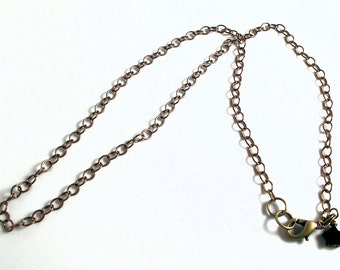 Chain  necklace - antiqued brass - 3.5mm fine cable - classic