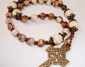Prayerbeads, Anglican Rosary, Protestant Rosary, bronze crucifix