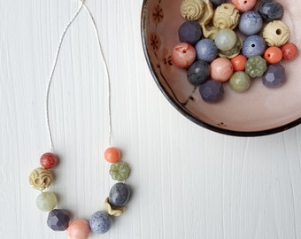 driftwood necklace - vintage lucite