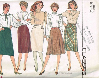 Size 6 8 10 Skirt Sewing Pattern Slim Straight Panel Styles Butterick 4618 Misses Womans Sewing Pattern Misses