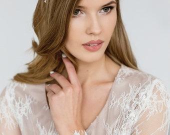 Wedding Headpiece , Bridal Statement Headband, Crystal Pearl Bridal Hair Wrap , Couture Bridal Hair Accessory