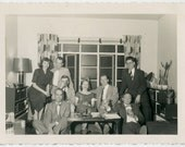 1950s MAD MEN Party People - Guy with Kooky Squeeze Toy - snapshot 806-A
