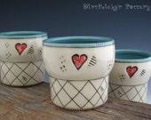 Ice Cream Cone Dessert Bowl - Pottery Dessert Dish - by DirtKicker Pottery