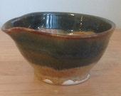 Spouted Porcelain glazed mens shaving bowl Life is Better free handmade soap