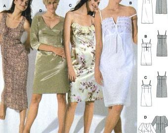 Burda 8348 UNCUT Misses Empire Waist Summer Slip Dress Sewing Pattern Size 8-20
