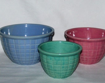 Robinson Ransbottom BeehiveNesting Bowls, RRP Co, Nesting Bowls, Mixing Bowls, Roseville OH