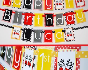 Race Car Birthday Party Banner  Decorations Fully Assembled