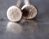 Super tiny petite and cute fine silver stud post earrings