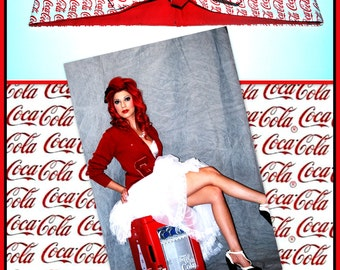 Betty Bandana in Coka A Cola Print.....New Size & Style