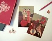 Postcard Set, Postcard Collection, Set of Postcards, Blank Card Set, Postcard Set, Postcard Pack, Circus Postcard Set - Carnival Darlings