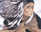 Print PEACEKEEPER by Lynne French ZEN Inspired Native American Warrior