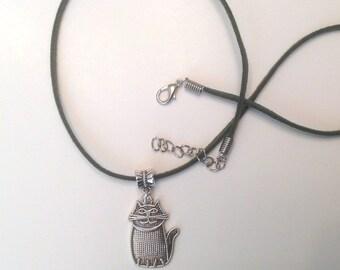 Cat Pendant Necklace Cat Charm Necklace