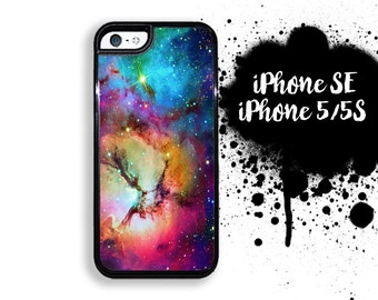 iPhone 5S SE Unicorn Nebula Rainbow Stars and Glaxy Print Plastic or Rubber Case for iPhone 5 iPhone 5S