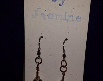 Brown Swirl earrings