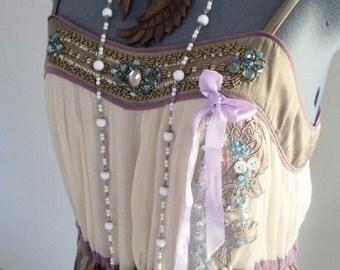 wedding dress, alternative wedding, boho wedding, beach wedding, boho clothing, beaded dress, wearable art, hand embellished