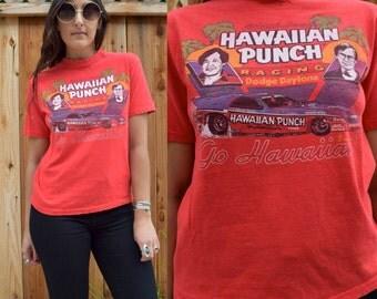 Vintage 80s HAWAIIAN Punch RACING Tee S
