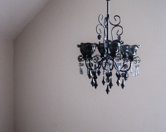 Twilight's End Smokey Candle Chandelier In MADE TO ORDER