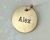 Gold personalized name charm - Gold Name Charm - Personalized Charm - Gold filled personalized charm - Gold personalized charm - name charm